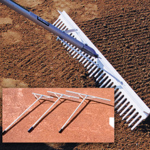 Aluminum Baseball Field Maintenance Rake - 36-inches Wide