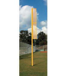 15' Above Ground 8' Wing Varsity Foul Pole - Pair