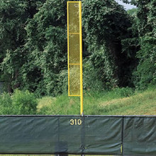 20' Above Ground 12' Wing Heavy Duty Foul Pole Pair