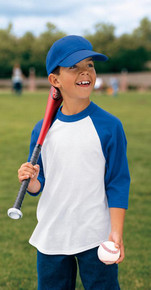 Sport-Tek® Youth Colorblock 3/4 Sleeve Raglan Jersey YT200