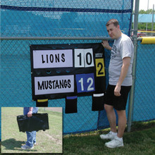 Fence-Mounted Outdoor Multisport Scoreboard