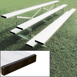 Alumagoal Preferred Stationary Aluminum Bleacher - Seats 28