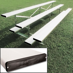 Alumagoal Preferred Stationary Aluminum Bleacher - Seats 42