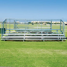 Alumagoal Preferred Stationary Aluminum Bleacher - Seats 72