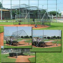Foldable and Portable Baseball Batting Cage