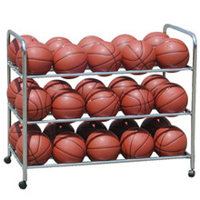 Athletic Connection Double-Wide Steel Ball Cart