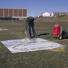 "Polytough Athletic Field Stencil - Letter ""G"""