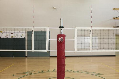 Gared Sports 6102 Scholastic Telescopic Two-Court Volleyball Net
