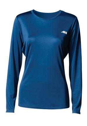 A4 Women's Long Sleeve Cooling Performance Crew NW3002