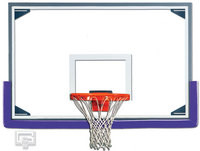 Gared Tall Glass Backboard, 48 x 72, Alum. Frame