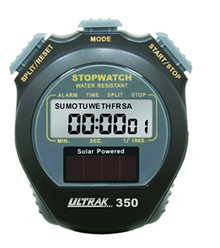 Ultrak Solar Powered Stopwatch: Cumulative Splits, 350