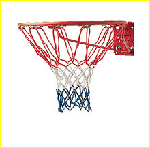 Basketball Net, 4mm Econmy Net Red, White And Blue, CS-405