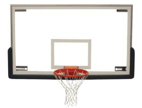 Spalding SuperGlass Collegiate Basketball Backboard Package B, AA-BBS100