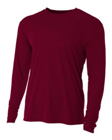 A4 Youth Cooling Performance Long Sleeve Crew