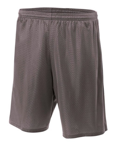 "A4 Adult Lined Tricot Mesh Shorts 9"" Inseam"