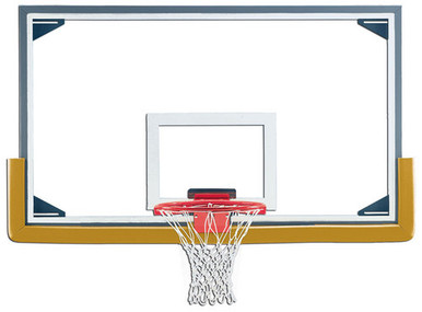 Gared Steel Frame Glass Basketball Backboard with Glass Retention System