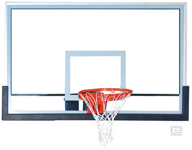 Gared Outdoor Glass Basketball Backboard with Clear View, 42 x 72