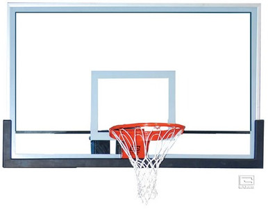 Gared Outdoor Glass 42 x 60 Basketball Backboard with Clear View