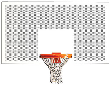Gared Perforated Steel Basketball Backboard, 42 x 72