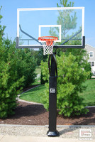 "Gared Pro Jam Adjustable Hoop with 42 x 72 Acrylic, 6"" Post"