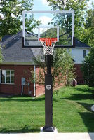 "Gared Collegiate Jam Adjustable Hoop, 42 x 60 Glass, 5"" Post"