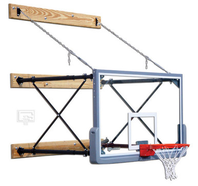 Gared Wall Mounted Basketball Backstop, Four Point