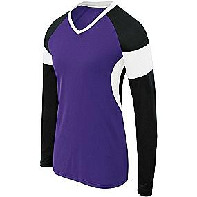 High 5 Sportswear Girl's Long Sleeve Volleyball Jersey-Raptor
