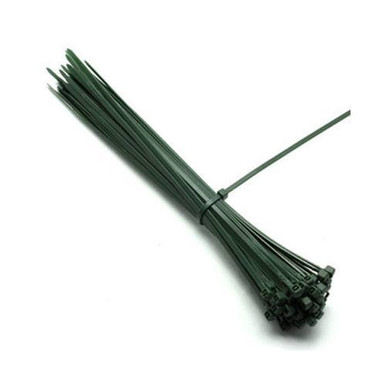 Poly-Cap Green 18'' Tie Wraps 100 per pack