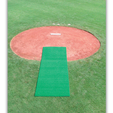 DiamondTurf Pitcher's Mat - Green 4' x 12'