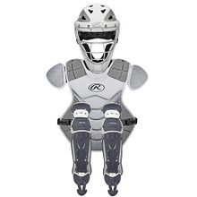 Rawlings Velo Catcher's Set Wht/Silver (Age 9-12)