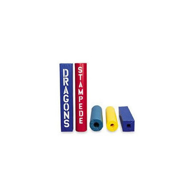 """Post Pad - Fits up to 4-1/2"""" Red/Blue 1"""