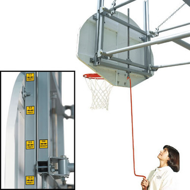 Bison Gymnasium Height Adjustment System - Tall Board