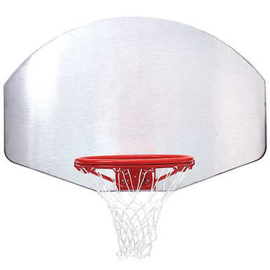Silver Aluminum Basketball Backboard with Goal and Net