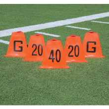 Flag Football Stackable Sideline Markers 5 Piece