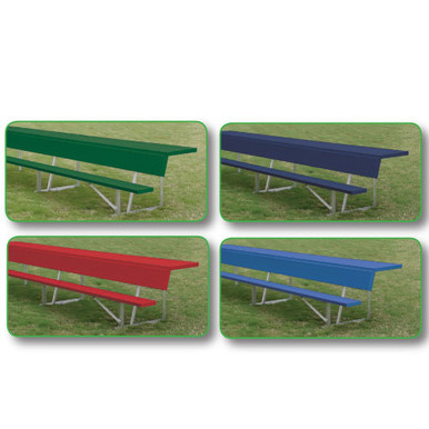 7.5' Players Bench w/shelf (colored) 3