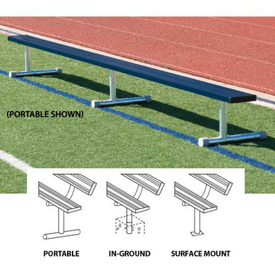 21' Permanent Bench w/o back (colored) 2