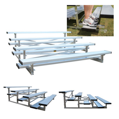 4 Row 15' Low Rise Bleacher