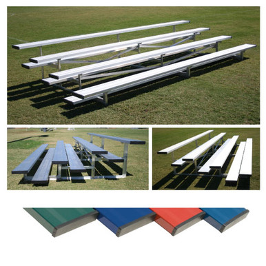 4 Row 7.5' Low Rise Bleacher - Colored 1