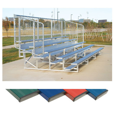 4 Row 15' Powder Coated Bleachers