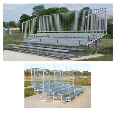 4 Row 15' Vertical Picket Bleacher 1