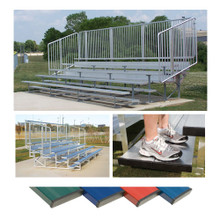 4 Row 15' Pref. Vertical Picket Bleacher