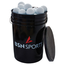 BSN SPORTS™ Bucket with 60 Lacrosse Balls