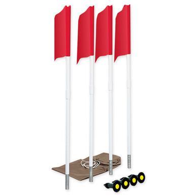 Spring Loaded Soccer Corner Flags (Set of 6) 1