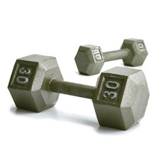 Solid Hex Dumbbells