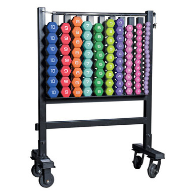 CAP Barbell Complete Neoprene Dumbbell Set and Rack