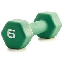 Neoprene Dumbbell - Green 6LB