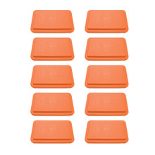 "10 Pack 4"" Fitness Steps Orange"