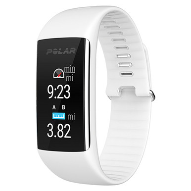 Polar A360 Activity Trainer w/Wrist Heart Rate Monitor - White SM