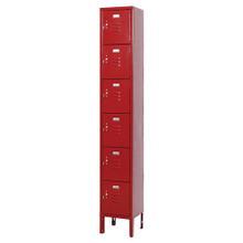Multi Tier Locker - 1 Wide - 6 Openings 4