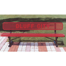 6' Custom Lettered Bench - In-Ground